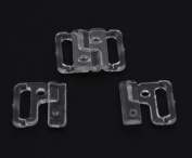 Plastic Bikini Bra Clips Hooks Swimwear Clicker Bikini Accessory Tape Closure Hook & Clasp Fasteners Pack of 100Sets
