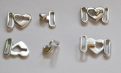Heart Bikini Bra Clips Hooks Swimwear Clicker Bikini Accessory Tape Closure Hook & Clasp Fasteners 9mm Pack of 100Pcs