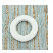 Interbusiness Curtain Grommets 4.2cm Inner Diameter, Set of 8, White