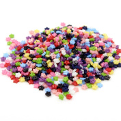 David Cartier 2016 1000 Pieces Mixed Colour Stars Plastic Buttons Sew on Dress DIY Crafts,5.5MM