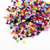 David Cartier 2016 1000 Pieces Mixed Colour Triangle Shaped Plastic Buttons Sew on Dress DIY Crafts,5.5MM