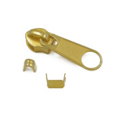 25 Sets #3 Gold Moulded Zipper Slider Pull Stoppers Bottom Replace Kit Stop ZP22