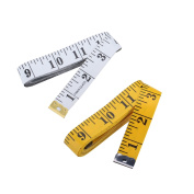 Dxg 300cm Yellow Soft Tape Measure and White 150cm Tape Measure for Sewing Tailor Cloth Ruler