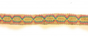 Designer BRAID Natural Multi Colour Trim , COTTON- For Clothing , Pillows, Rugs, Drapes 5 Yds Br-129