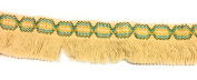 Designer BRAID FRINGE Beige Multi Colour Trim , COTTON- For Clothing , Pillows, Drapes 5 Yds Br-129