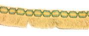 Designer BRAID FRINGE Beige Multi Colour Trim , COTTON- For Clothing , Pillows, Drapes 5 Yds Br-129