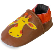 PantOUF soft leather baby shoes with suede soles -toddler shoes – prewalker shoes- animals