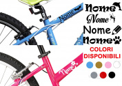 AWS Two 2 Stickers Name H 2 cm + 2 logos Tuning Bimbi Bicycle Stickers Bicycle Sticker Bike Moto Helmet Custom Name