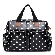 Miss Lulu Baby Nappy Nappy Changing Bag Set 4 Pieces Polka Dots Print