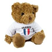 NEU - FRANCE FLAGGE - Braun Teddybär - Niedlich Weich Kuschelig - Geschenk