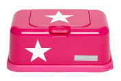 Funky baby wipes Dispenser Box Wipes Case in Pink with Star