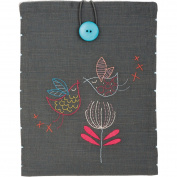 """Stylized Birds iPad Cover Stamped Embroidery Kit-21cm """"X10.60cm """""""