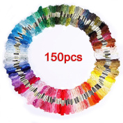 Labellevie Cross Stitch Floss Mixte Colour Embroidery Floss Sewing Threads 150 Skeins
