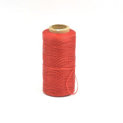 One Roll Wax Line Thread Sewing Leather Tensile Strength For Wallet Pick Bag Clothing Red