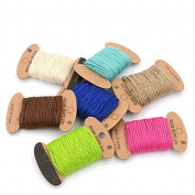 Astra Gourmet Gift Twine DIY Packing Twine Natural Cotton Twine Jute String for Christmas Arts Crafts, 7 Colours Totally 76 Yards