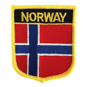 Norway Flag Emblem Badge Embroidered Patch Iron-On Sew-On