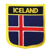 Iceland Flag Emblem Badge Embroidered Patch Iron-One Sew-On