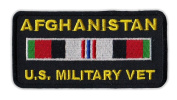 Motorcycle Jacket Embroidered Patch - Afghanistan Vet Ribbon - Vest, Cut, Leathers - 10cm x 5.1cm