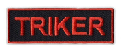 Motorcycle Jacket Embroidered Patch - Triker (Orange) - Vest, Cut, Leathers - 7.6cm x 2.5cm