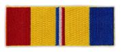 Motorcycle Jacket Embroidered Patch - Combat Veteran Service Ribbon Bar - Vest, Cut, Leathers - 8.9cm x 3.2cm