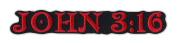 Motorcycle Jacket Embroidered Patch - John 3:16 Bible Verse Passage - Vest, Cut, Leathers - 15cm x 2.5cm