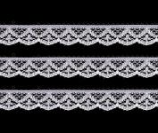 Vintage Antique DIY Net Rachel Lace Ribbon Floral Pattern Trimming Bridal Wedding Prom Dress Scalloped Edge 13mm Wide M0820 (White