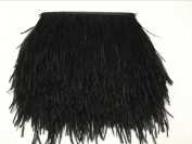 AABABUY 5 Yards Ostrich Feather 10cm - 15cm Trim Fringe for Wedding Sewing Crafts Costumes Decoration DIY Catwalk