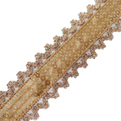 Sequin Ribbon Trim Brown Designer Lace Crafting Apparel Dress Drape Tape By The 2 Yards