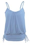 LittleLittleSky Womens Sexy Spaghetti Strap Tankini Swimwear Top One Piece Summer Bikini Swimsuit Tops (
