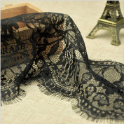 3 Yard Black Grace Embroidered Lace Dress Lace Trim Fabric Ribbon Curtain Accessory Craft Lace 15cm Width