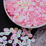 BarFeer Loose Sequins 50G 6Mm Cup Round Sequin Paillettes Sewing Decoration Artesanatos Acessorios Costura 19# Pink Ab
