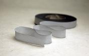 "2.5"" (64mm) Hand dyed silk ribbon bias cut 3 yard cutting - Colour 532 light grey"