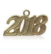 Year 2018 Gold Drop Date Signet for Graduation Tassel