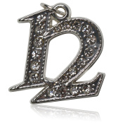 Year 2012 Bling Drop Date Charm for Graduation Tassel