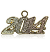 Year 2014 Gold Drop Date Signet for Graduation Tassel