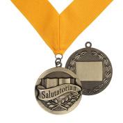 Salutatorian Award Medal on Gold Grossgrain Ribbon