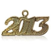Year 2013 Gold Drop Date Signet for Graduation Tassel