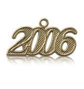 Year 2006 Gold Drop Date Signet for Graduation Tassel