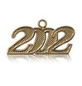 Year 2002 Gold Drop Date Signet for Graduation Tassel