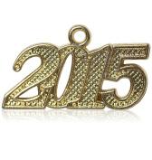 Year 2015 Gold Drop Date Signet for Graduation Tassel