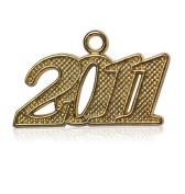 Year 2011 Gold Drop Date Signet for Graduation Tassel