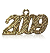 Year 2009 Gold Drop Date Signet for Graduation Tassel