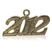 Year 2012 Gold Drop Date Signet for Graduation Tassel