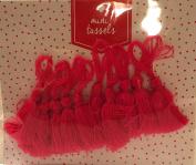 Bright Pink Mini Tassels - Pkg. of 10