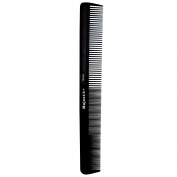 Hair Comb, a Professional Carbon Steel Styling Comb by Majestik+, Strength & Durability, Medium and Fine Tooth, Black With Free Bespoke PVC Product Pouch