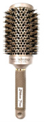 RibbonTree Nano Thermal Ceramic & Ionic Large Round 5.1cm Barrel Hair Brush with Boar Bristle for Hair Drying, Styling, Curling, Adding Hair Volume and Shine, Gold Brown