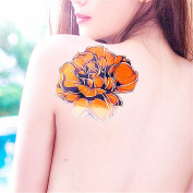 LZC Temporary Tattoo Waterproof Shoulder Arm Stickers Fashion Party Summer Vacation Body Art Adult Men Woman Ink Black Colourful - Big Rose Flower