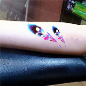 LZC Temporary Tattoo Waterproof Shoulder Arm Stickers Fashion Party Summer Vacation Body Art Adult Men Woman Ink Black Colourful - Coloured Feathers