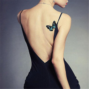 LZC Temporary Tattoo Waterproof Shoulder Arm Stickers Fashion Party Summer Vacation Body Art Adult Men Woman Ink Black Colourful - Butterfly