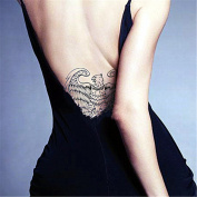 LZC Temporary Tattoo Waterproof Shoulder Arm Stickers Fashion Party Summer Vacation Body Art Adult Men Woman Ink Black Colourful - Eagle